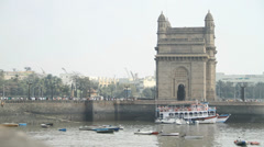 The Gateway of India in Mumbai Stock Footage