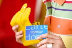 donor's card - stock photo
