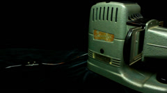 Old neg projector (dolly) Stock Footage