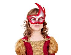 Little girl theater actress with mask Stock Photos