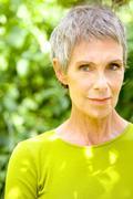 Portrait woman in 50s Stock Photos