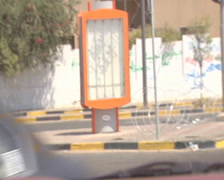 LIBYA - driving in the stree of Tripoli during the war 3 - stock footage