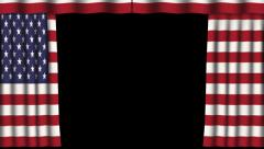 Paper Curtain - Flag - United States - Alpha Channel - 02 Stock Footage