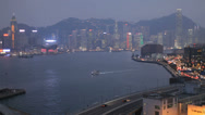 Stock Video Footage of The stunning Hong Kong harbour at night