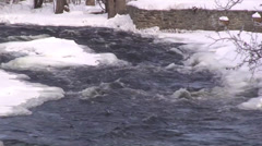 Winter scene of water and snow. #04 - stock footage