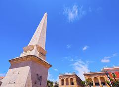 born square in ciutadella on minorca - stock photo