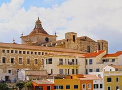cathedral in mahon on minorca - stock photo