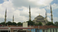 Stock Video Footage of Time lapse of clouds passing over the Sultanahmet Blue Mosque in Istanbul