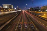 Stock Photo of atlanta interstate 85 freeway night