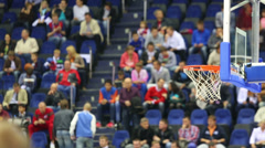 Balls fly into the basket during a basketball workout athletes Stock Footage