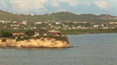 Caribbean Ocean shoreline Antigua beach fast HD 1351 Stock Footage