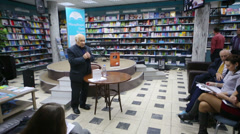 Vladimir Feiertag speaks at presentation of book Brill FAMILY Stock Footage