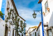 Stock Photo of obidos landmark, old medieval city