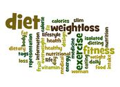 Stock Illustration of diet word cloud