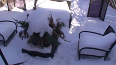 Back Yard the winter time. #17 Stock Footage