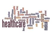 Stock Illustration of healthcare word cloud