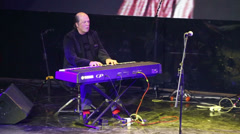 Igor Bril play synthesizer at Brilliant Jazz Club concert Stock Footage
