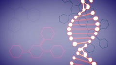 UltraHD (4K) video of DNA and formulas in motion Stock Footage