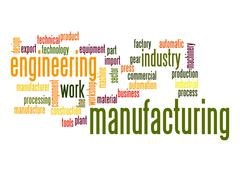 manufacturing word cloud - stock illustration