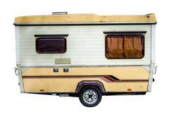 Retro 70s caravan Stock Photos