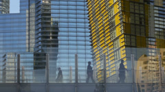 City Center, Las Vegas Buildings with Futuristic Architectural Design - stock footage
