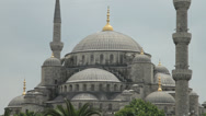 Stock Video Footage of The stunning Blue Sultanahmet Mosque in Istanbul