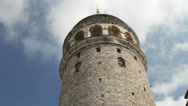 Stock Video Footage of The Galata Tower in the asian Karaköy district of Istanbul, Turkey