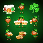 St.patrick's day's set Stock Illustration