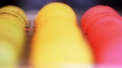 Food French Macarons Multicolored Macaron Stock Footage