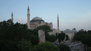 Stock Video Footage of The Hagia Sophia in Istanbul at dusk