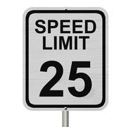 Speed limit 25 sign Stock Illustration