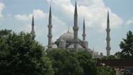 Stock Video Footage of The famous Blue Sultanahmet Mosque in Istanbul