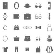 Dressing icons on white background Stock Illustration