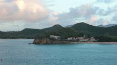 Luxury beach resort ocean sunset Antigua HD 1364 Stock Footage