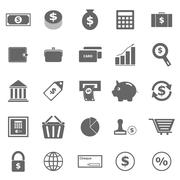 Money icons on white background Stock Illustration