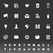 General folder icons on gray background Stock Illustration