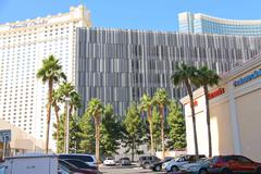Ultramodern buildings hotels in city center las vegas Stock Photos