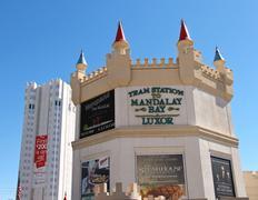 the excalibur hotel and casino in las vegas - stock photo
