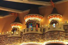 interior the excalibur hotel and casino in las vegas. - stock photo