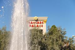 Fountain in caesar's palace in las vegas Stock Photos