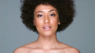 Stock Video Footage of Beautiful woman with an afro hairstyle