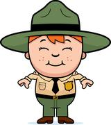 Kid Park Ranger Stock Illustration