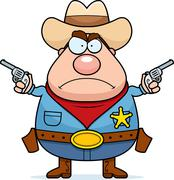 Angry Cowboy Stock Illustration