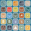 Stock Illustration of laundry flat icons on blue background