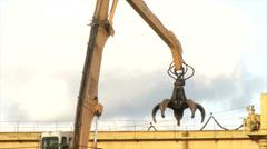 Hoisting crane Stock Footage