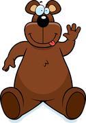 Bear Sitting Stock Illustration