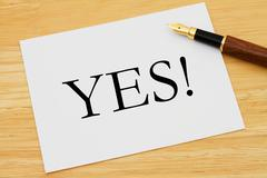 saying yes! - stock photo