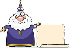Wizard Scroll Stock Illustration