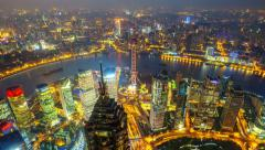 "China Shanghai,day to night(panning shot).>>>Please search: ""ShanghaiSkyline"" - stock footage"
