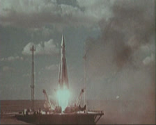 Ballistic missile.  Rocket launch from Baikonur. Stock Footage